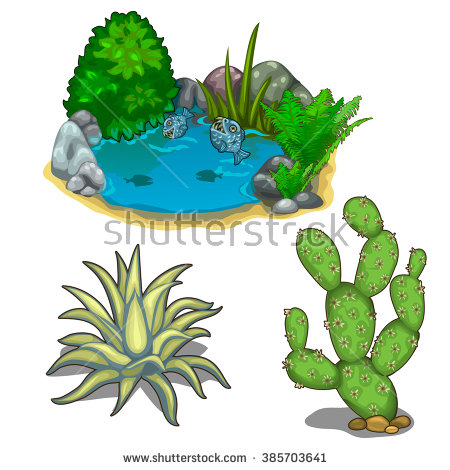 Desert Cactus Scene Stock Photos, Royalty.