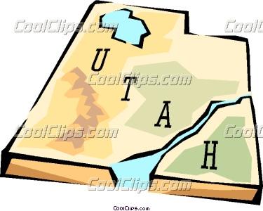 Utah state map.