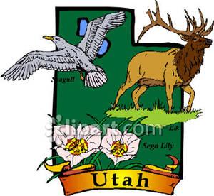 Utah State Clipart.