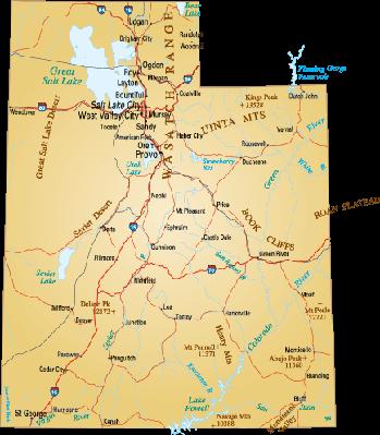 Map of Utah.