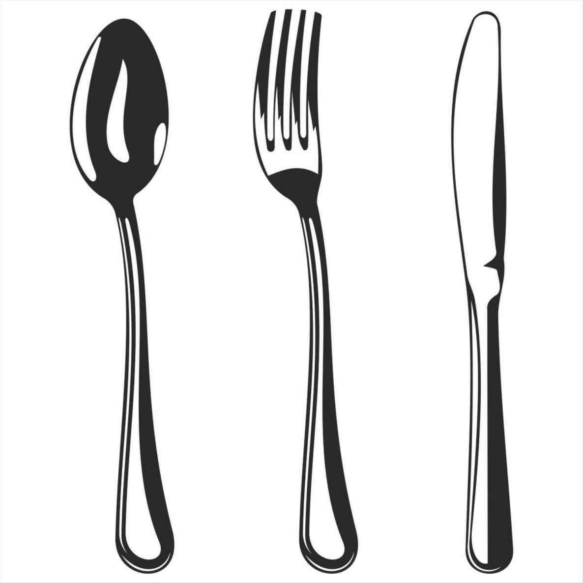 Stunning Color The Kitchen Utensils Clipart Black And White.
