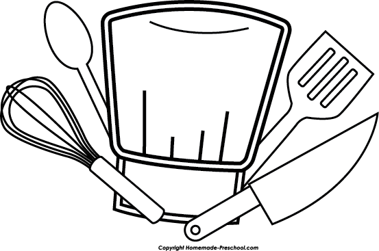 Free Kitchen Utensils Clipart Black And White, Download Free.