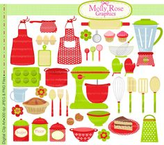 kitchen tools clip art.