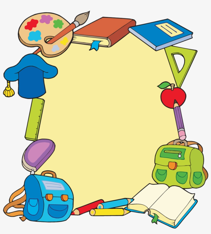 Back To School Supplies Clipart.