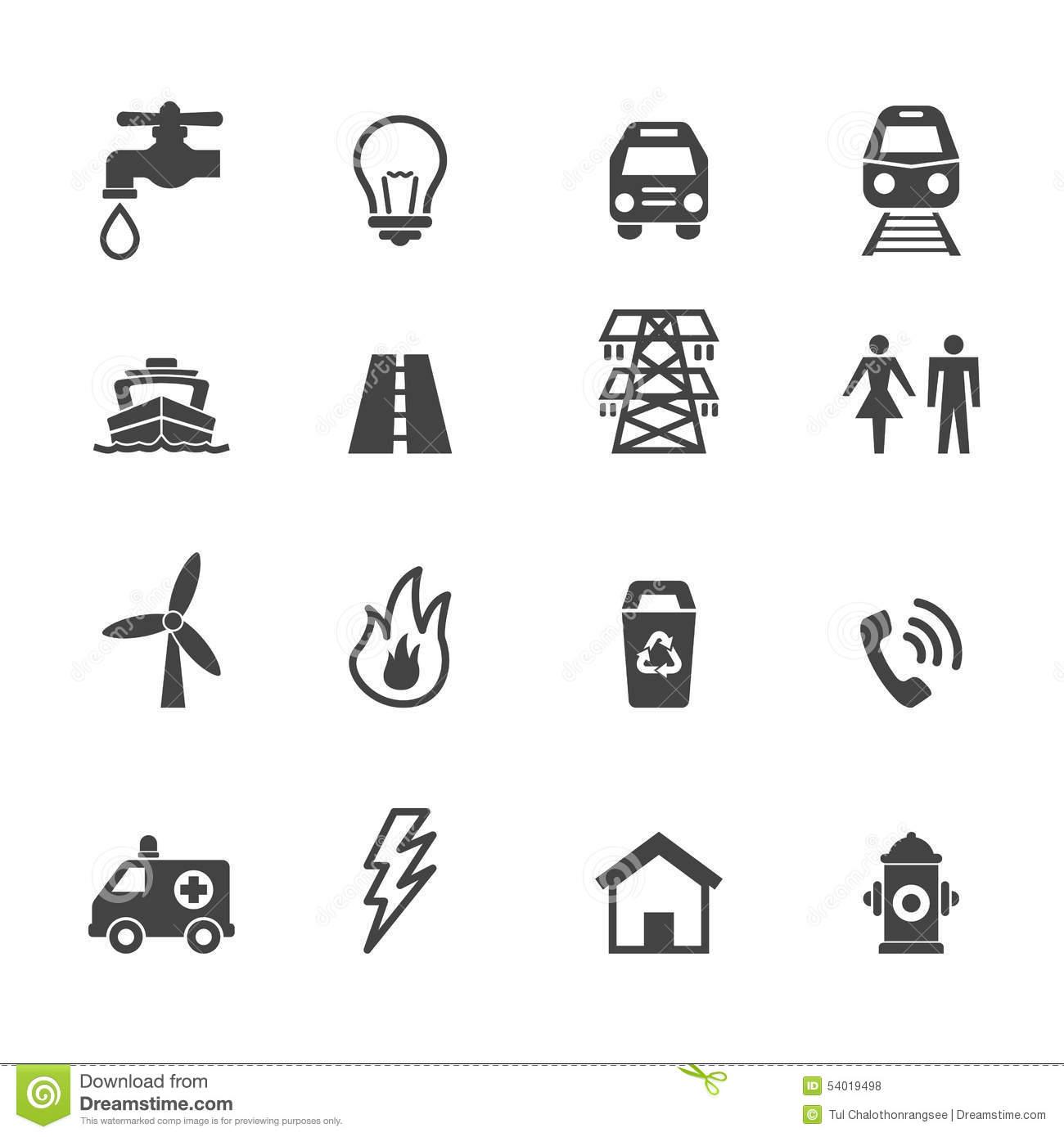 Utilities Clipart.