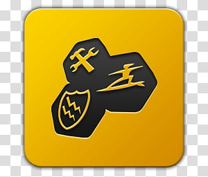 Icon , Tune UP, yellow Tuneup Utility icon transparent.