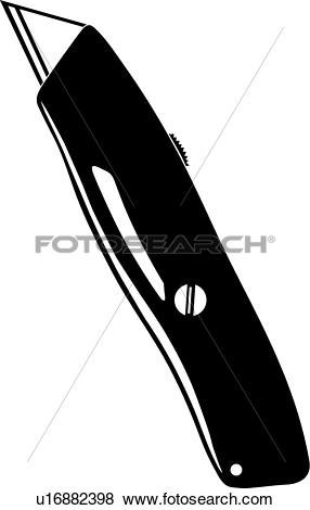 Clip Art of Utility Knife u16882398.