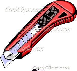 Utility Knife Vector Clip art.