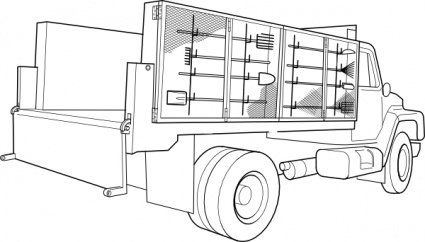 Free Utility Trucks Clipart and Vector Graphics.