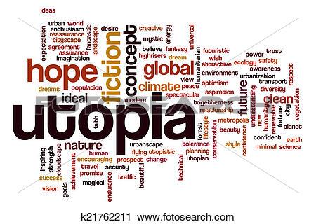 Clipart of Utopia word cloud k21762211.