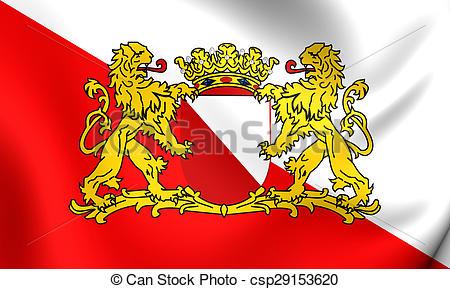 Clip Art of Flag of Utrecht City, Netherlands..