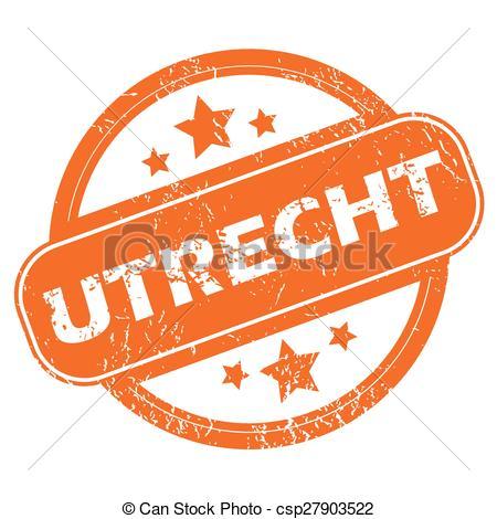 Vector Illustration of Utrecht round stamp.