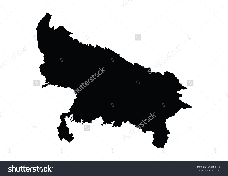 Uttar Pradesh India Vector Map Isolated Stock Vector 242156113.