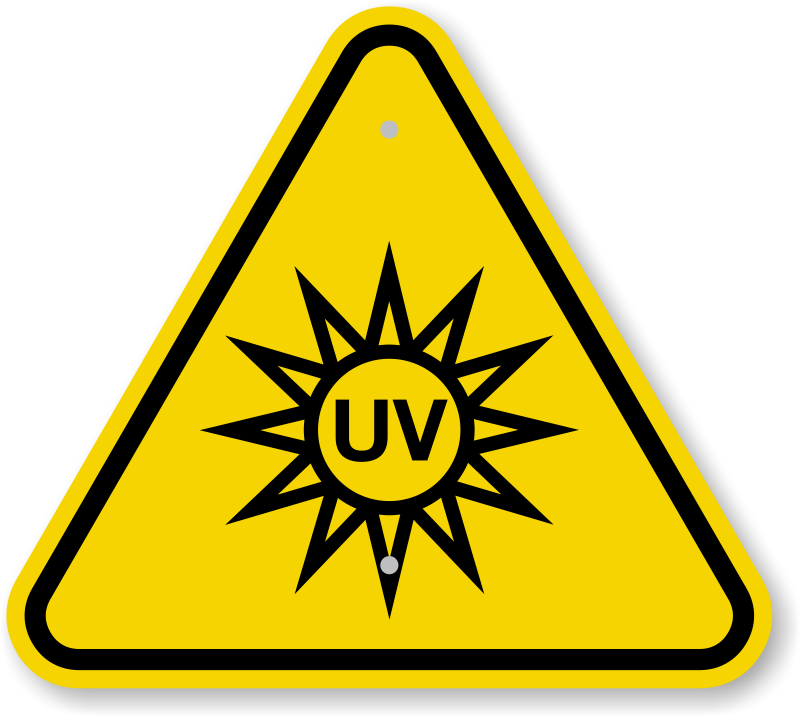 Uv rays clipart.