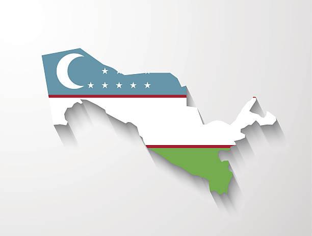 Map Of Uzbekistan Clip Art, Vector Images & Illustrations.
