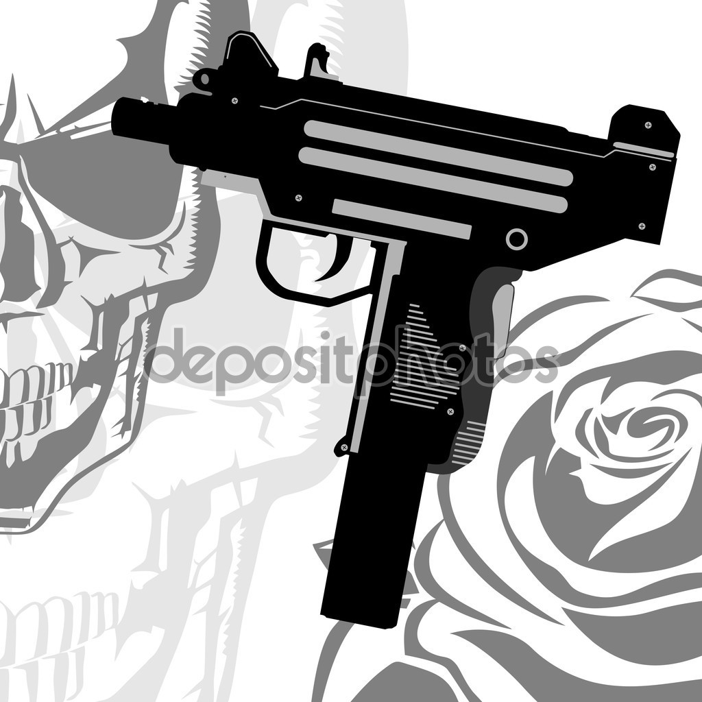Vector Clipart Uzi — Stock Vector © Mr_Haze #85720920.