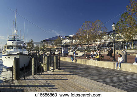 Stock Photography of waterfront, Norfolk, VA, Hampton Roads.