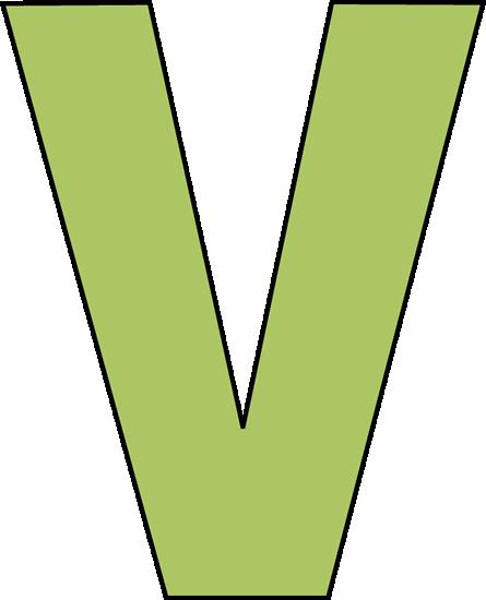 Letter V Clipart.
