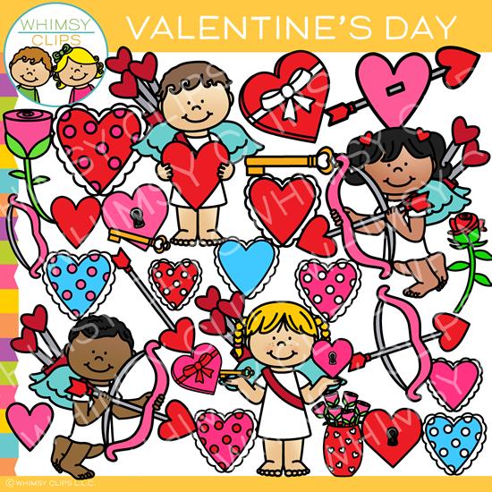 Happy Valentine\'s Day Clip Art.
