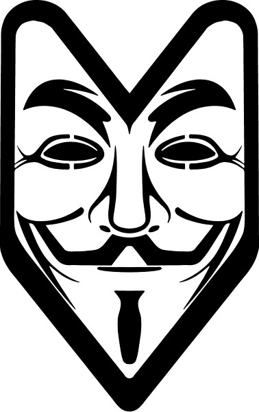 V FOR VENDETTA / ANONYMOUS DECALS and STICKERS.