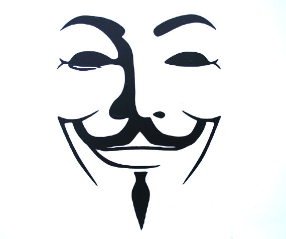 "Items similar to Guy Fawkes V for Vendetta 4"" Vinyl Logo Decal."