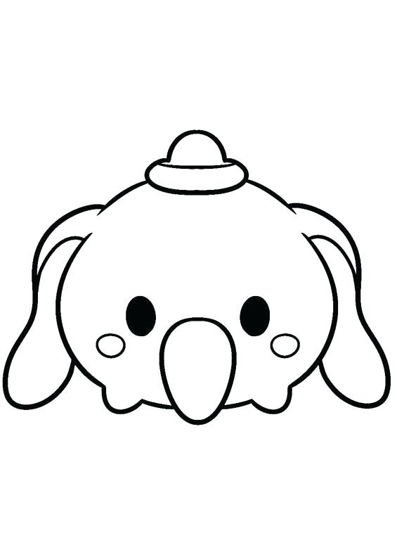 Disney tsum tsum coloring pages black and white.