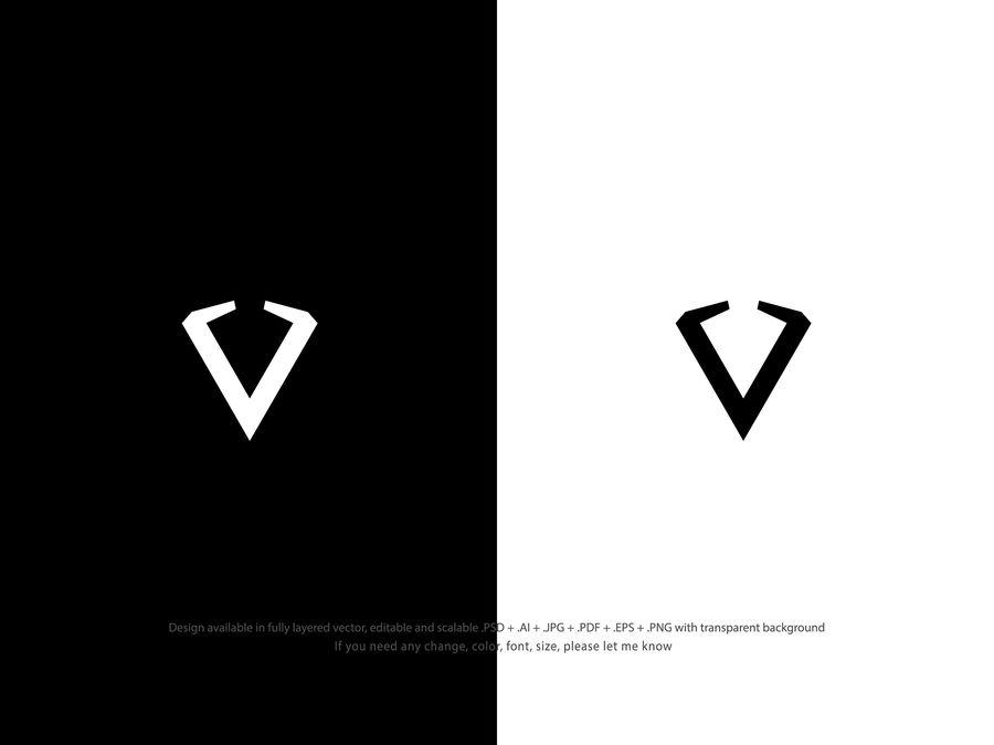 Entry #560 by luisarmandojeda for Simple V letter logo.
