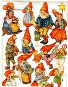 """Elves Faeries Gnomes: """"Efter Julgröten,"""" by Trygve Davidsen.."""