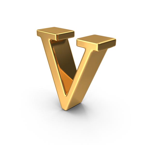 Gold Small Letter V PNG Images & PSDs for Download.
