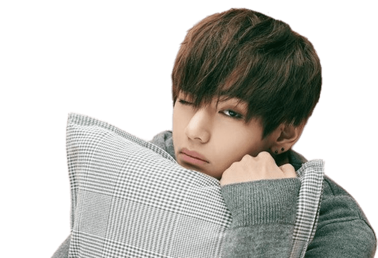 BTS V Sleepyhead transparent PNG.