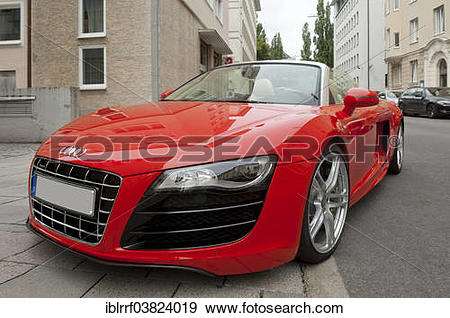 "Stock Photograph of ""Audi R8, V10 engine"" iblrrf03824019."