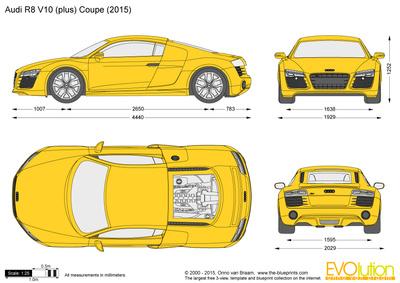 Audi r8 v10 clipart.