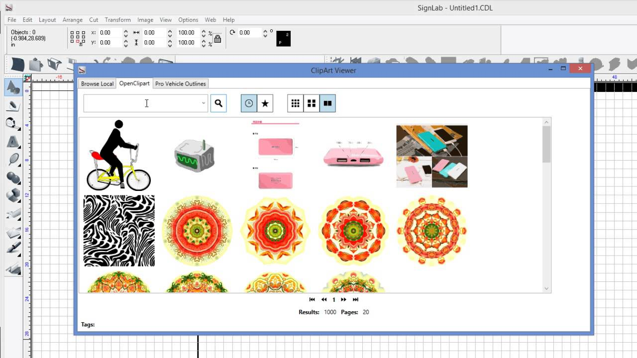 SignLab v10 NEW! Clipart Manager.