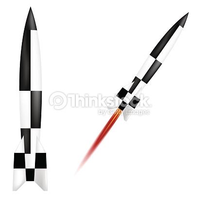 German V2 Rocket Vector Art.