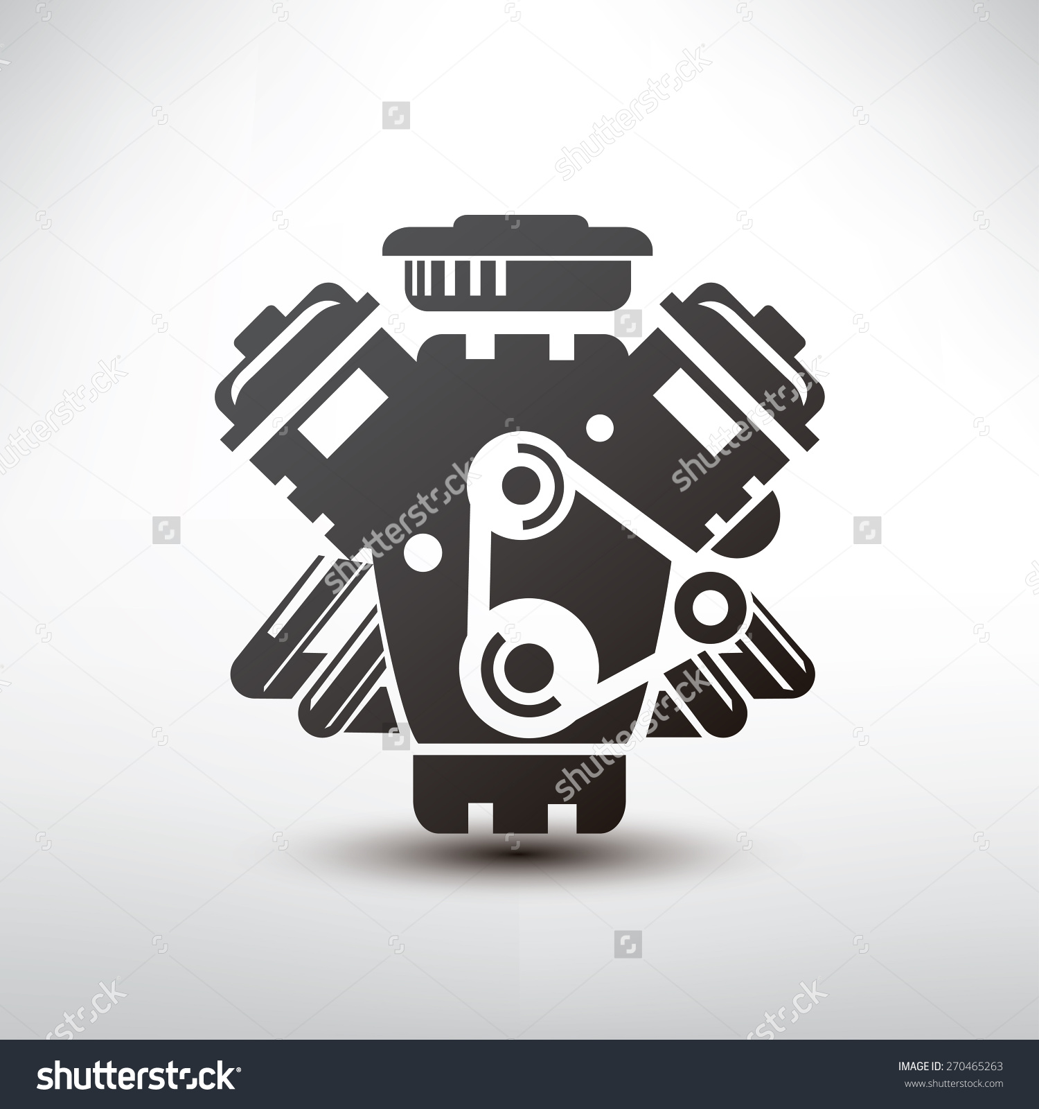 Simple car engine clipart.