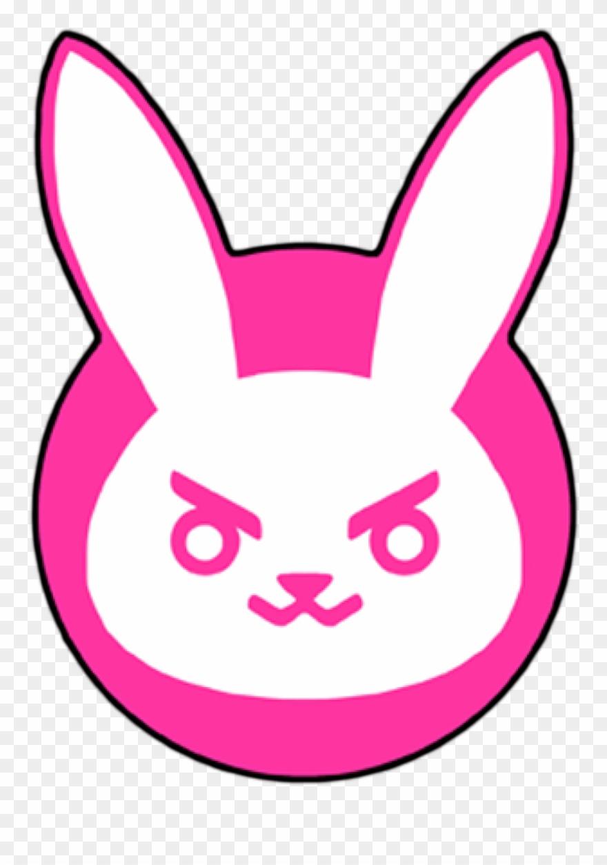 Dva Overwatch Bunny Logo.