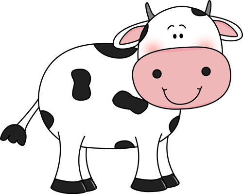 Cow with Black Spots.