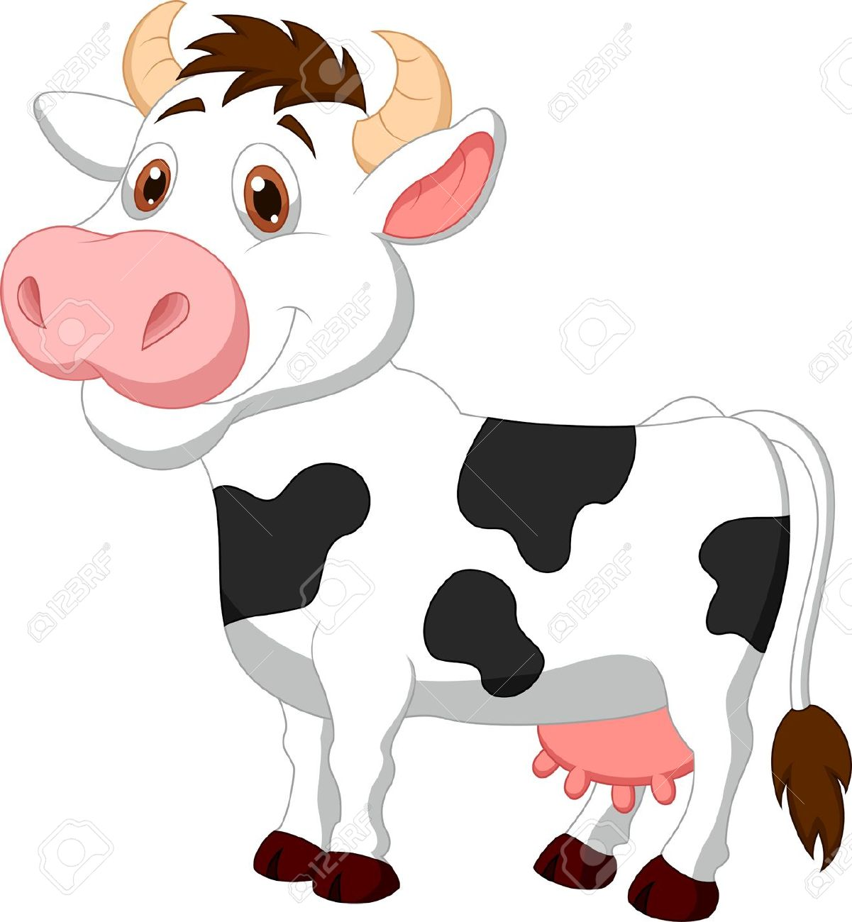 Vaca clipart » Clipart Station.
