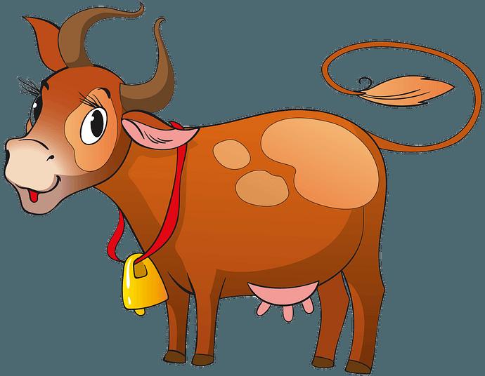 Vaca con campana clipart. Dibujos animados descargar gratis.
