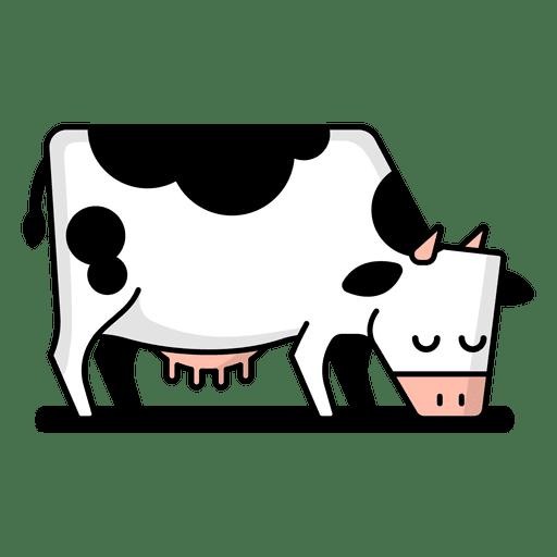 Vaca pastando dibujos animados.