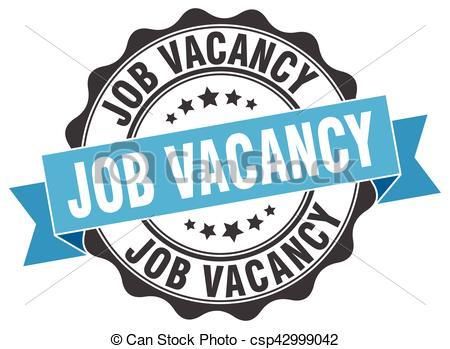 job vacancy stamp. sign. seal.