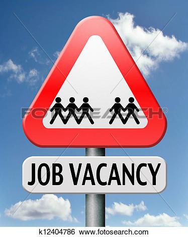 Clip Art of job vacancy k17563632.