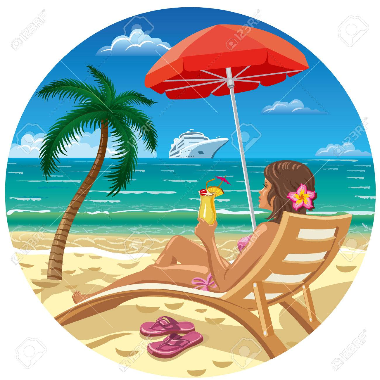 Free Lounge Clipart beach vacation, Download Free Clip Art.