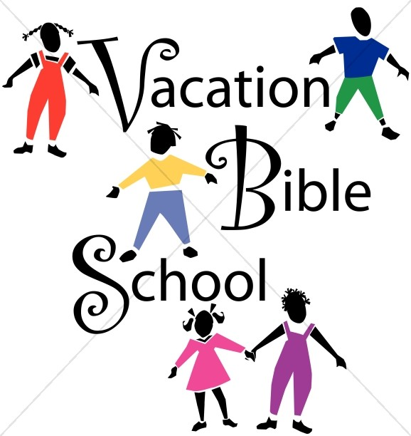 Vacation Bible School with Children Playing.