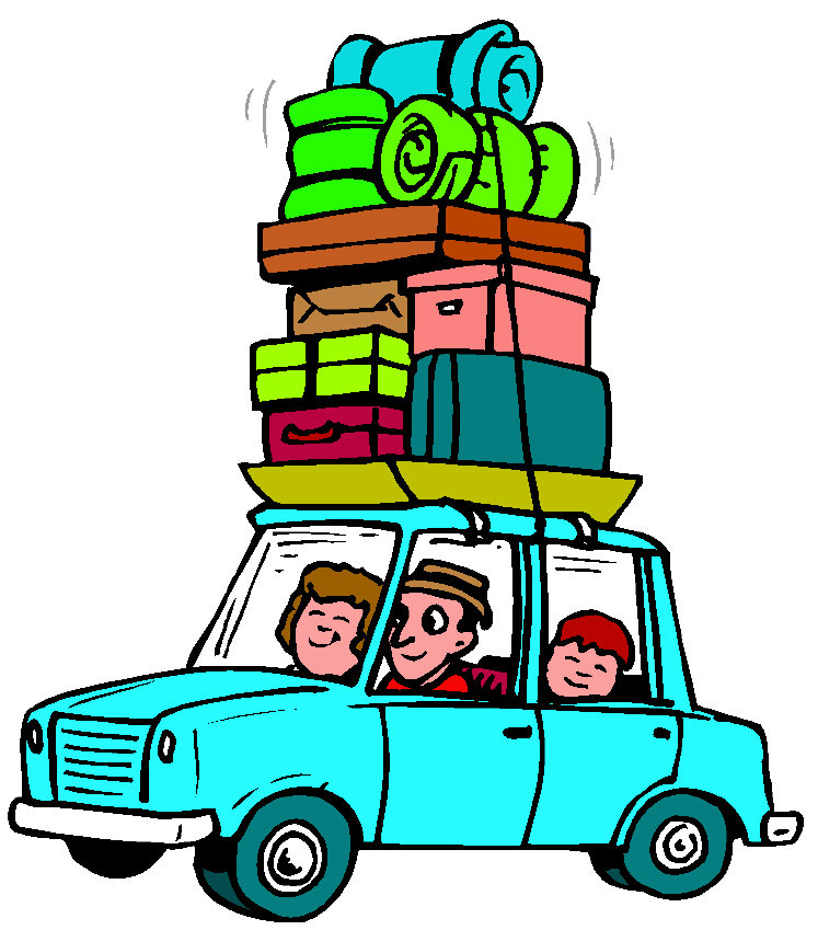Clip art driving vacation home clipart 2.