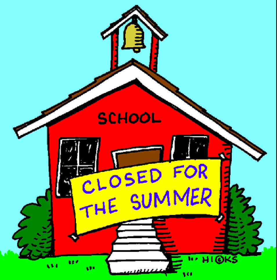 School Closed Summer Vacation Clipart.