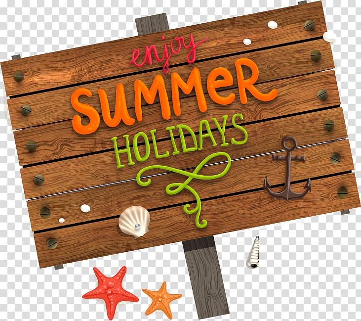 Enjoy Summer Hlidays signboard, Summer vacation Beach, beach.