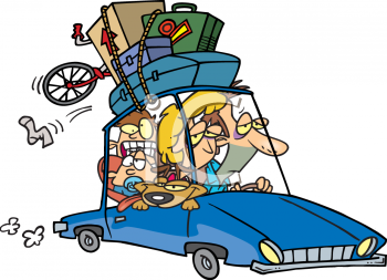 Going On Vacation In The Car Clipart.