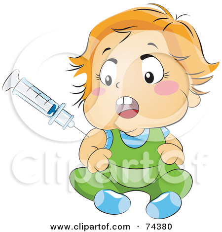 Baby vaccination clipart.