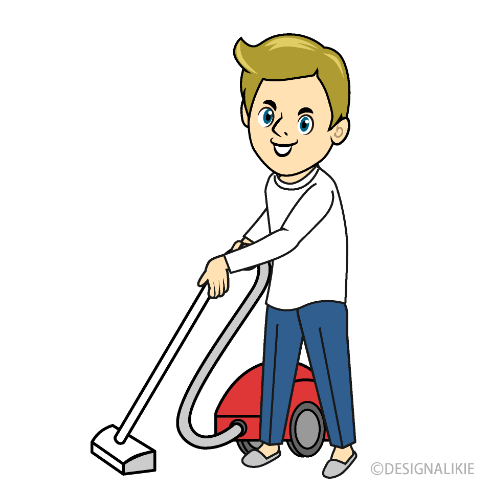 Free Man to Vacuum Clipart Image|Illustoon.